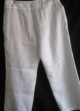 Очень хорошие фирменные  брюки из 100% льна( eilen  fisher)