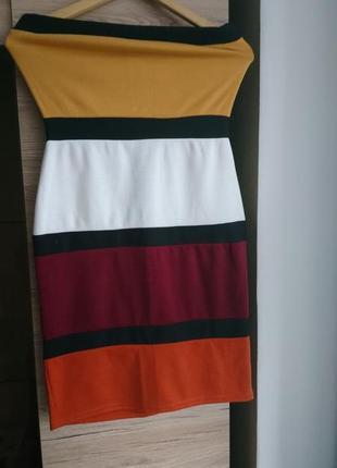 Мегакрутое полосатое платье boohoo s
