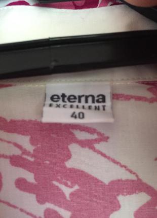 Дизайнерская хлопковая рубашка eterna3 фото