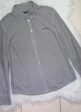 Фирменная рубашка в клетку marc o polo