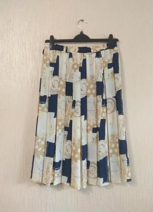 Необычная юбка в складку плиссе в ретро стиле размер l