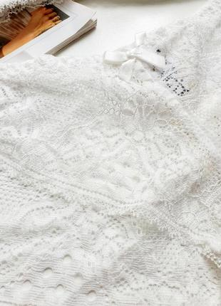 Білий комплект з бюстгальтером балконет❤3 фото