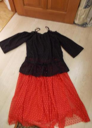 """В наличии модная блуза из ткани """"шитье"""" с опущенными плечами фирма  eksept"""