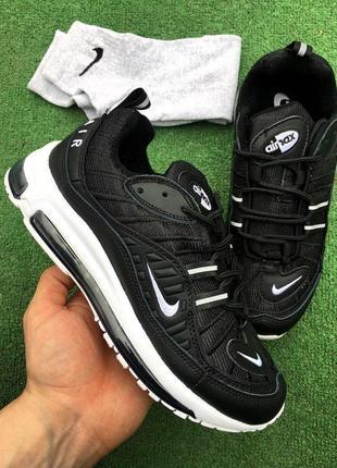 Кроссовки - в стиле nike air max (чёрные)