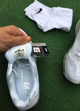 Кроссовки - в стиле nike air max (белые)3 фото