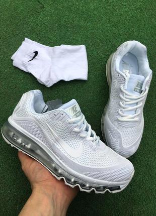 Кроссовки - в стиле nike air max (белые)2 фото
