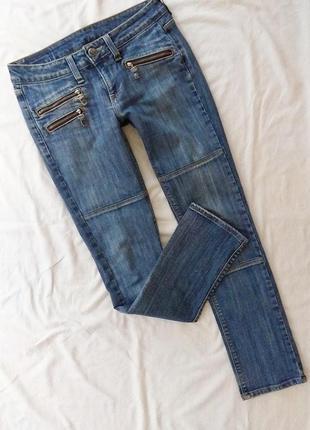 Крутые джинсы с молниями, р-р m, джинсовые брюки, штаны, crocker