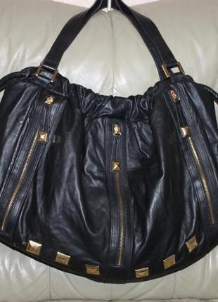 Роскошная фирменная сумка из натуральной кожи kg by kurt geiger