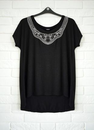 Красивая футболка с вышитой горловиной esmara uk 16 состояние новой