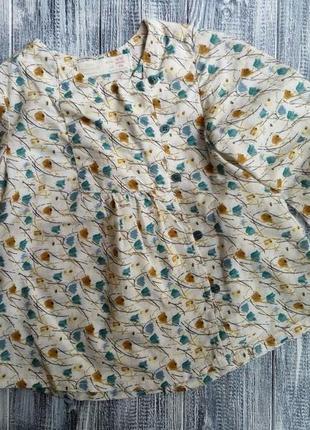 Блуза с тюльпанами zara
