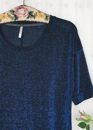 Блестящая метализированная футболка топ блуза с люрексом next