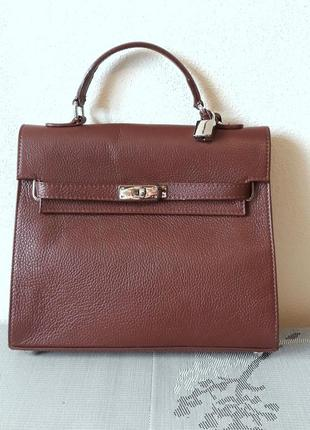 Carbotti  оригинал. италия. кожаная сумка ручной работы 100% натуральная кожа1 фото