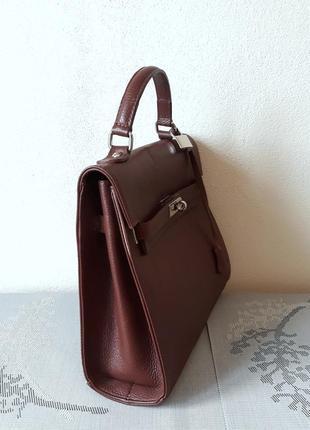Carbotti  оригинал. италия. кожаная сумка ручной работы 100% натуральная кожа2 фото