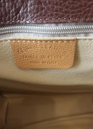 Carbotti  оригинал. италия. кожаная сумка ручной работы 100% натуральная кожа3 фото