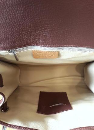 Carbotti  оригинал. италия. кожаная сумка ручной работы 100% натуральная кожа4 фото