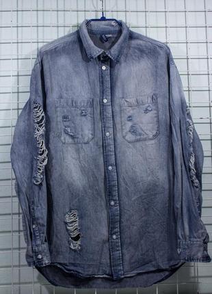 Рубашка мужская  divided   размер m (р50)