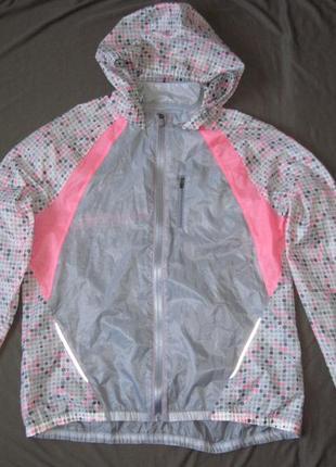 Under armour run (xl) спортивная беговая куртка ветровка женская