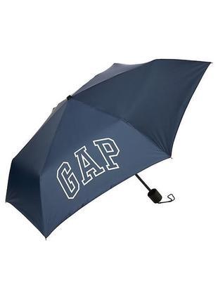 Брендовый зонт gap с лого синий унисекс