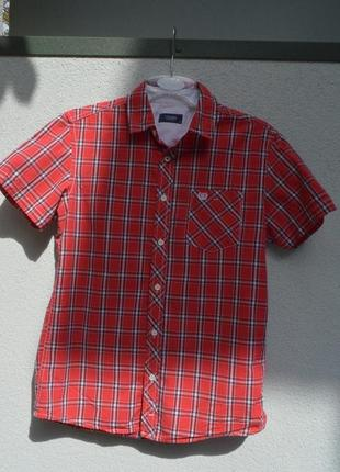 Очень красивая брендовая рубашка из котона в клеточку