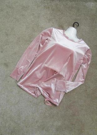 Бомбезный велюровый блузон. бренд hm..можно для беременных--с/м