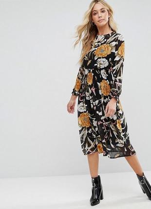 Элегантное шифоновое платье от boohoo m-l