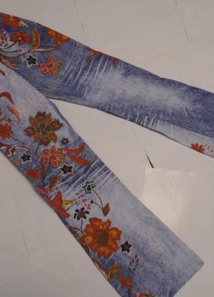Нарядные джинсы с высокой посадкой стрейч замеры!!!!
