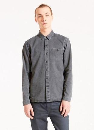 Классная серая рубашка levis оригинал, размер l