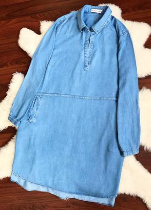 Джинсовое платье-рубашка  sheego    размер универсальный ( 3xl-xxl-4xl  )