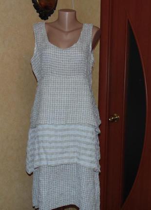 Платье бохо с болеро /лен /париж