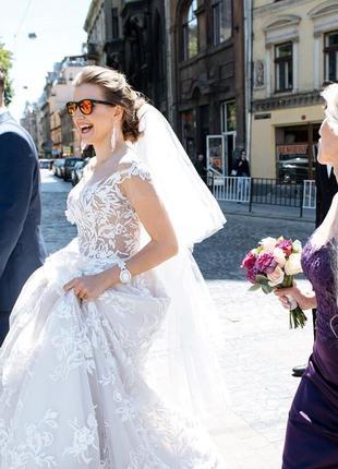 Вишукана весільна сукня, колекція оксани мухи 2018 р.