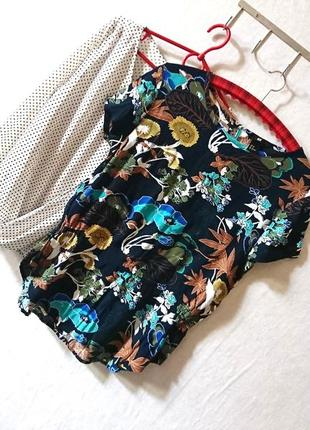 Красивейшая цветочная блуза с баской 🔸бренд h&m