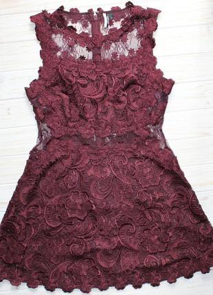 Шикарное кружевное  платье topshop