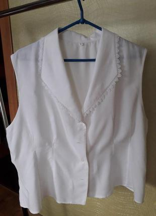 Блуза с воротником апаш
