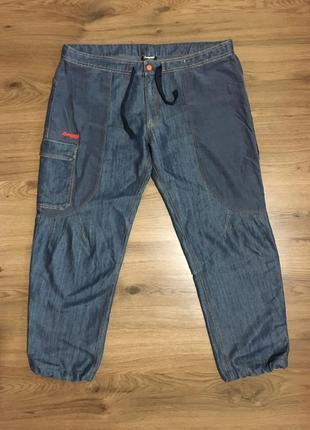 Лёгкие комбинированные джинсы,джоггеры bergans