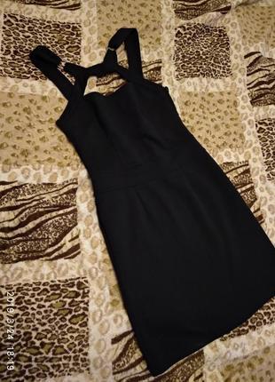Платье бандажное чёрное