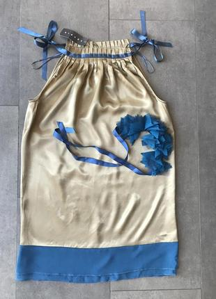Летний шёлковый сарафан sisley!2 фото