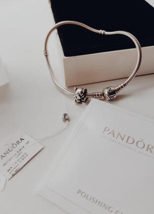 Pandora браслет и шарм слон