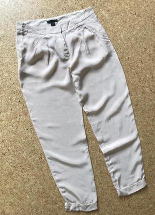 Mango брюки легкие пудровые