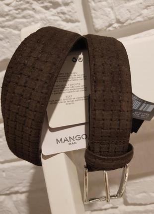 Новый мужской ремень mango. 100% кожа. размер 90