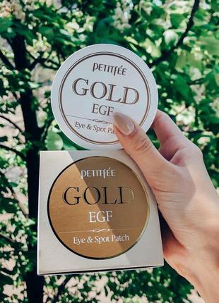 Патчи для глаз petitfee gold & egf eye & spot patch корейская косметика