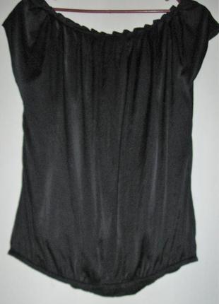 Шелковая блуза2 с напуском