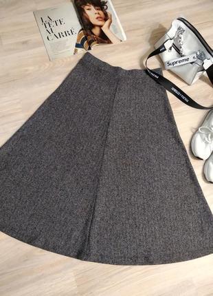 Крутая стильная юбка макси трапеция простая зернистая