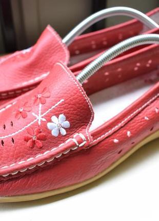 Кожаные туфли мокасины лоферы слипоны германия р.40 широкую 26 см