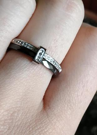 Кольцо черное керамика керамическое колечко