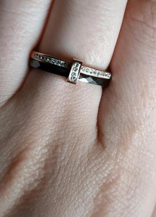 Керамическое кольцо черное колечко керамика