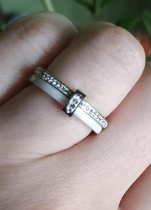 Кольцо белое керамическое колечко керамика3 фото