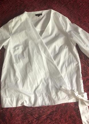 Рубашка на запах massimo dutti1 фото