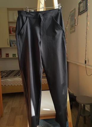 Новые женские черные брюки на лето оверсайз штаны джинсы черные тренд