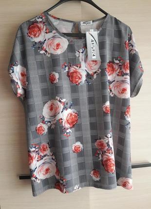 Блуза в квіти /віскоза/польща