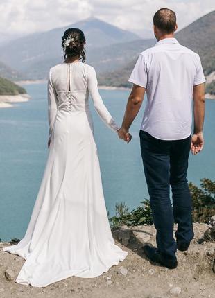 Элегантное свадебное платье4 фото